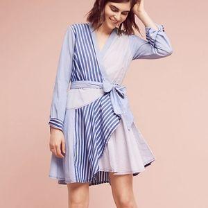 Maeve Anthropologie Newport Stripe Shirt Dress